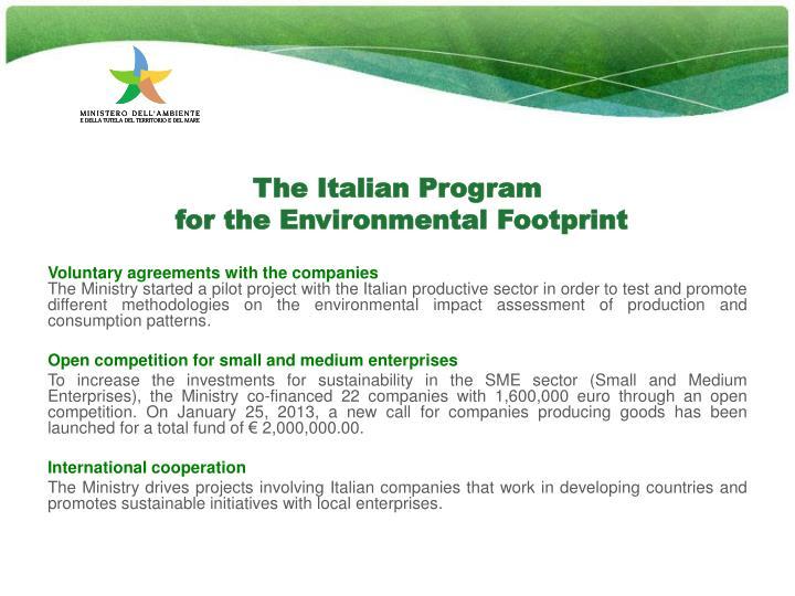 The Italian Program