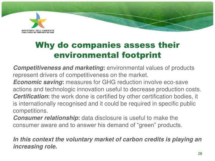 Why do companies assess their environmental footprint