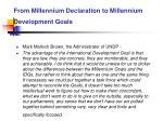 from millennium declaration to millennium development goals