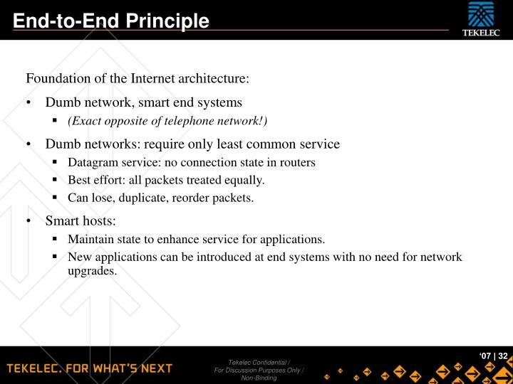 End-to-End Principle