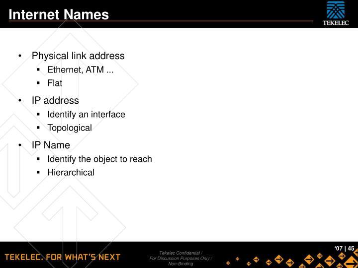 Internet Names
