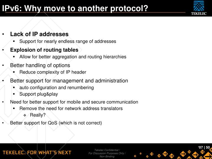 IPv6: Why move to another protocol?
