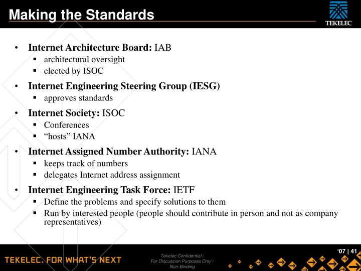 Making the Standards