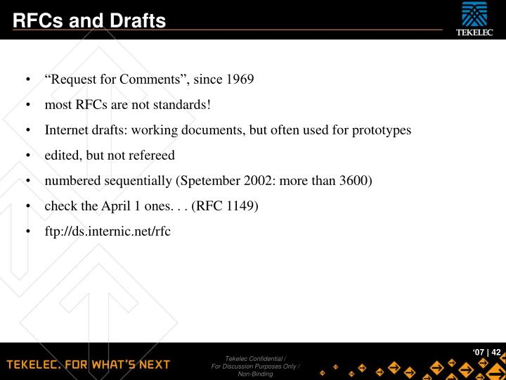 RFCs and Drafts