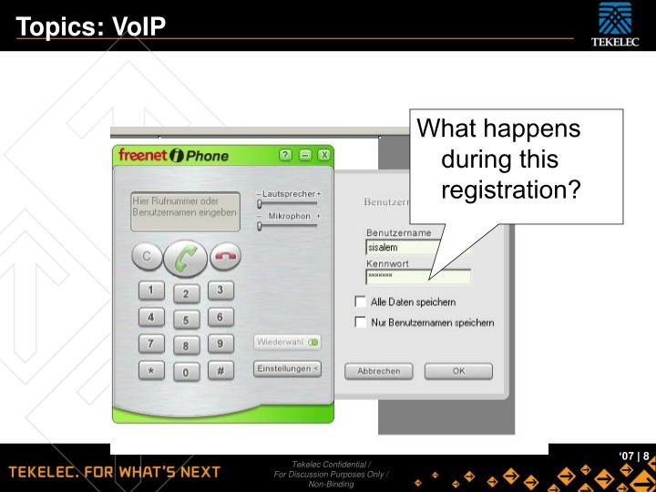 Topics: VoIP