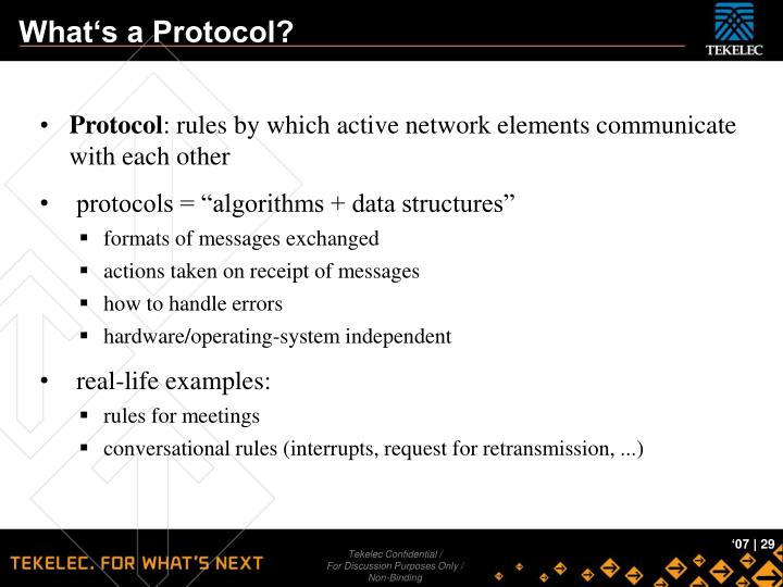 What's a Protocol?