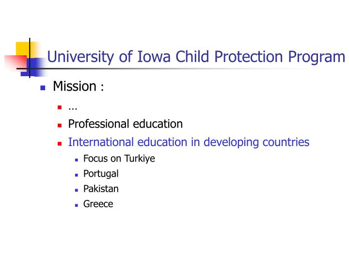 University of Iowa Child Protection Program