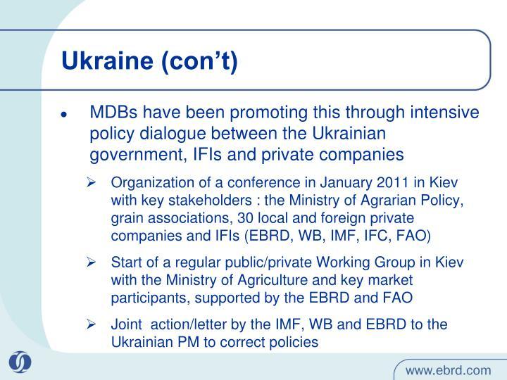 Ukraine (con't)