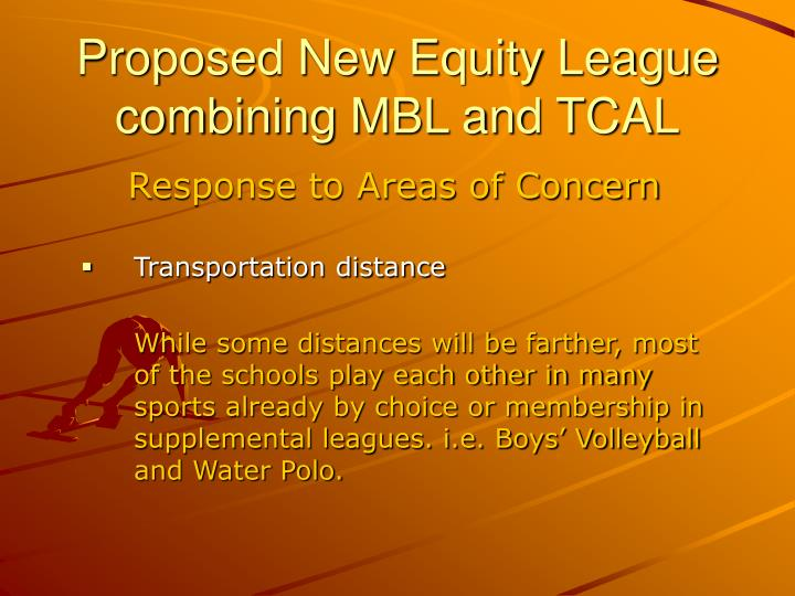 Proposed New Equity League combining MBL and TCAL