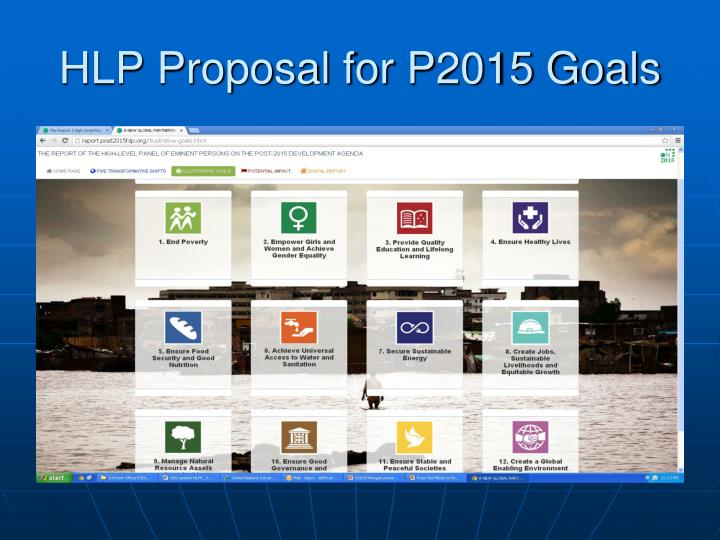 HLP Proposal for P2015 Goals