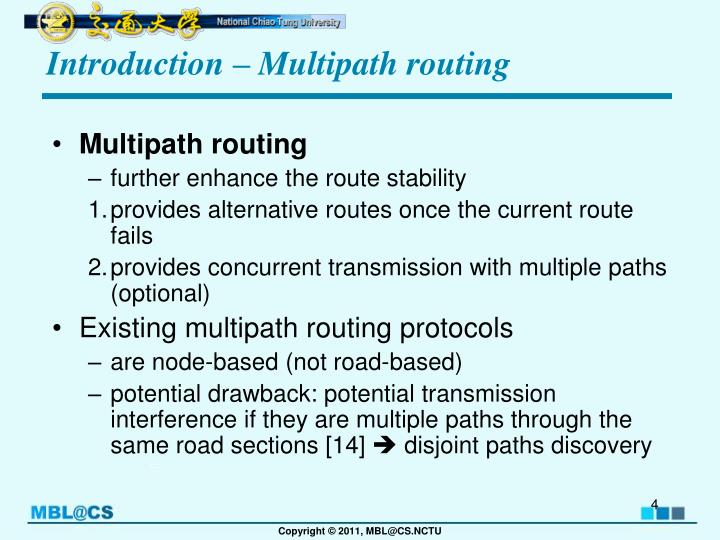 Introduction – Multipath routing
