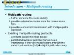 introduction multipath routing