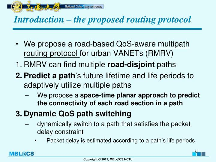 Introduction – the proposed routing protocol