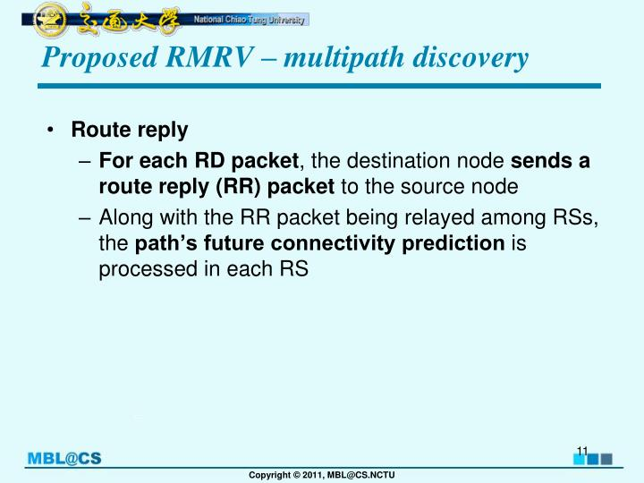 Proposed RMRV – multipath discovery