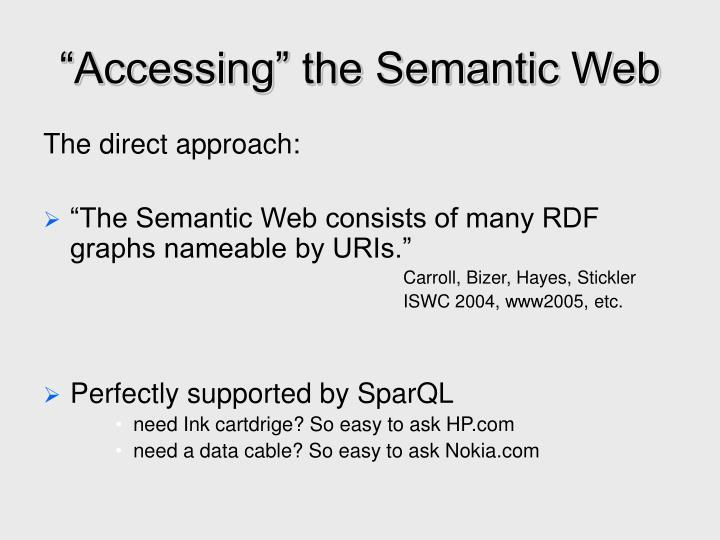 """Accessing"" the Semantic Web"