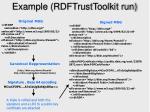 example rdftrusttoolkit run