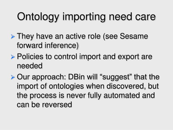 Ontology importing need care