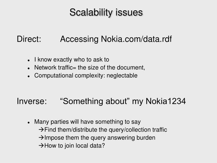 Scalability issues