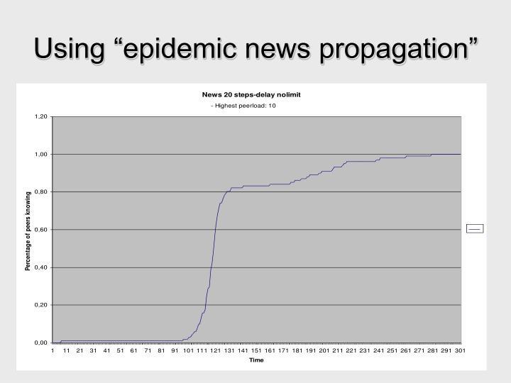 """Using """"epidemic news propagation"""""""