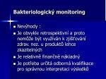 bakteriologick monitoring1