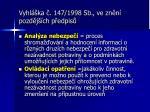 vyhl ka 147 1998 sb ve zn n pozd j ch p edpis1