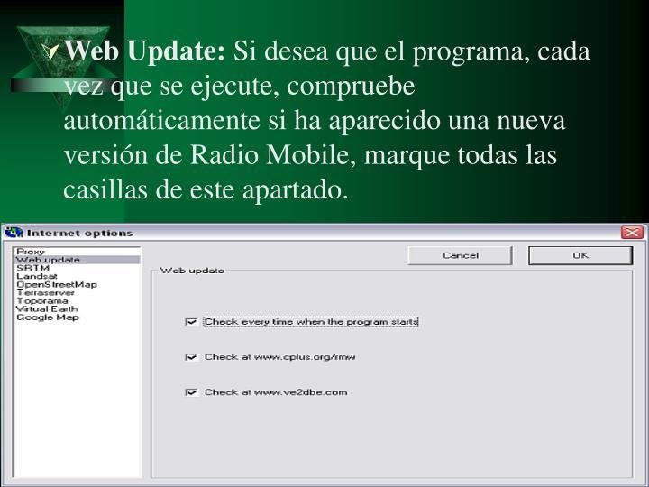 Web Update: