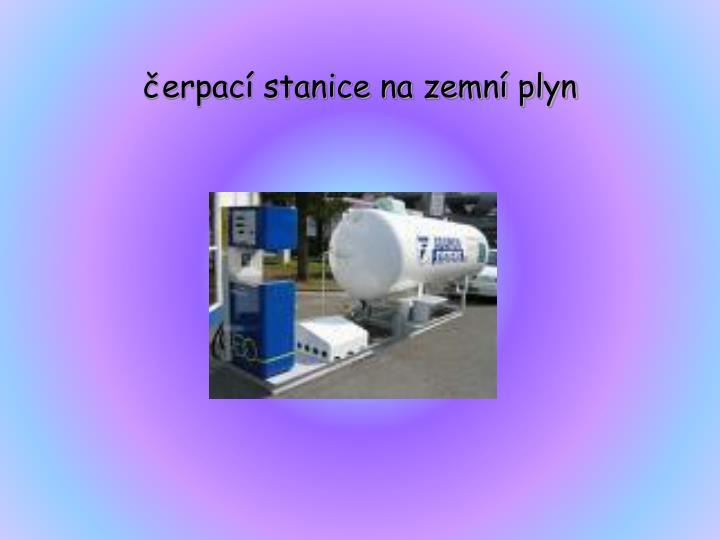 čerpací stanice na zemní plyn