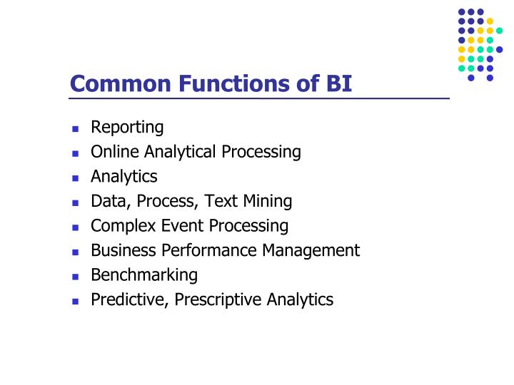 Common Functions of BI