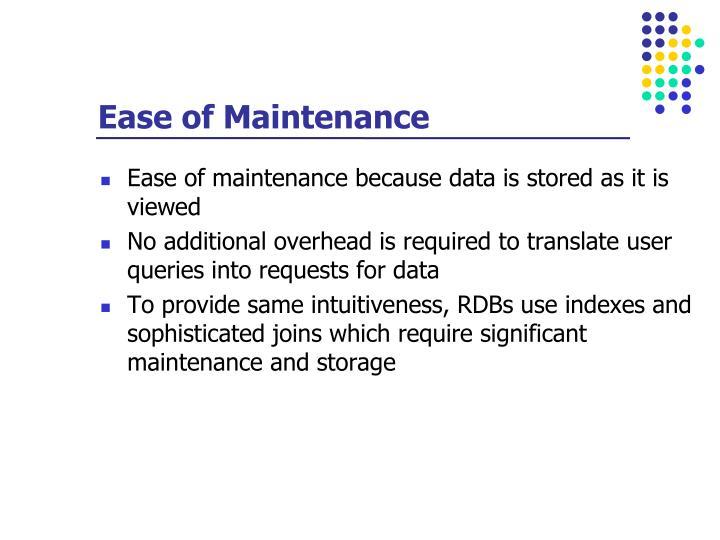 Ease of Maintenance