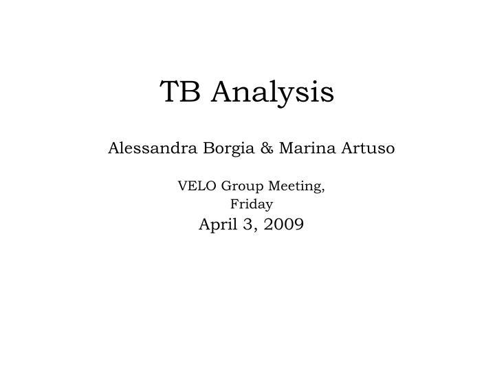 tb analysis