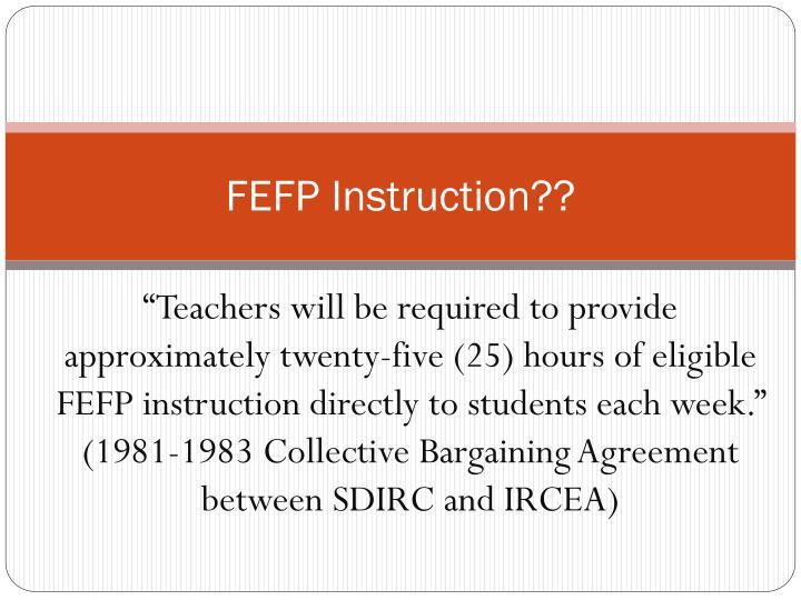 fefp instruction