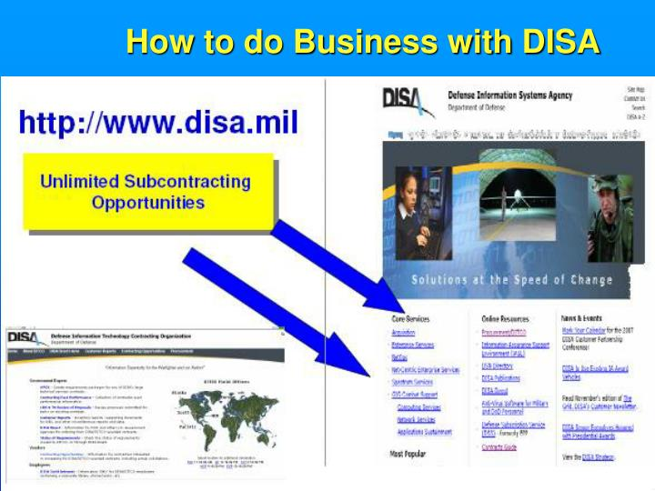 How to do Business with DISA