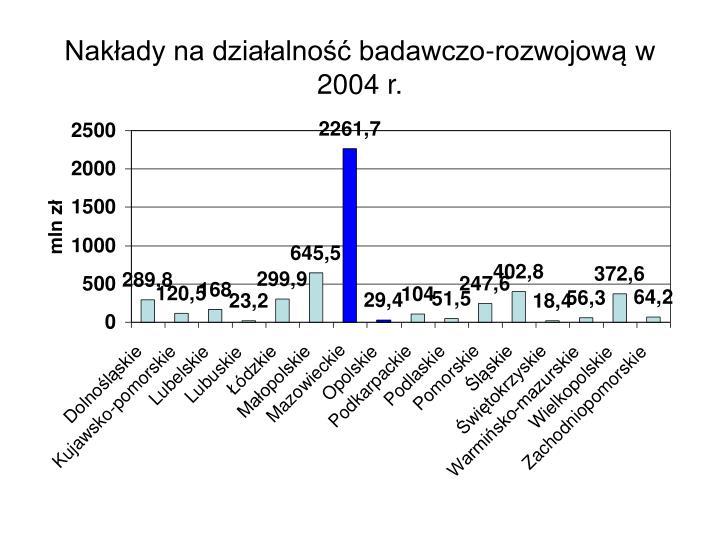 Nakłady na działalność badawczo-rozwojową w 2004 r.