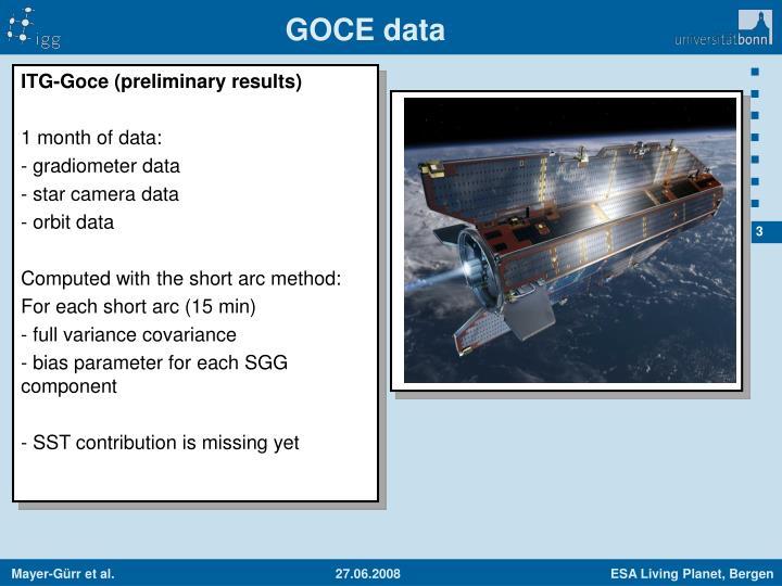 GOCE data