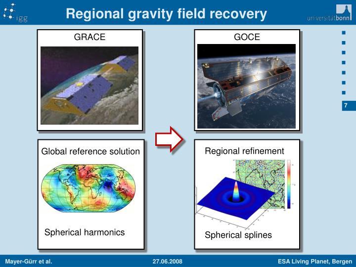 Regional gravity field recovery