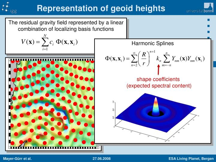 Representation of geoid heights
