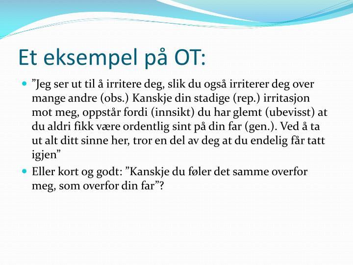 Et eksempel på OT:
