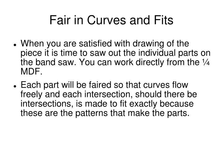 Fair in Curves and Fits