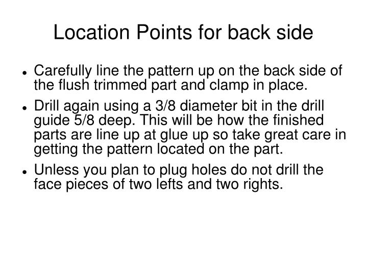 Location Points for back side