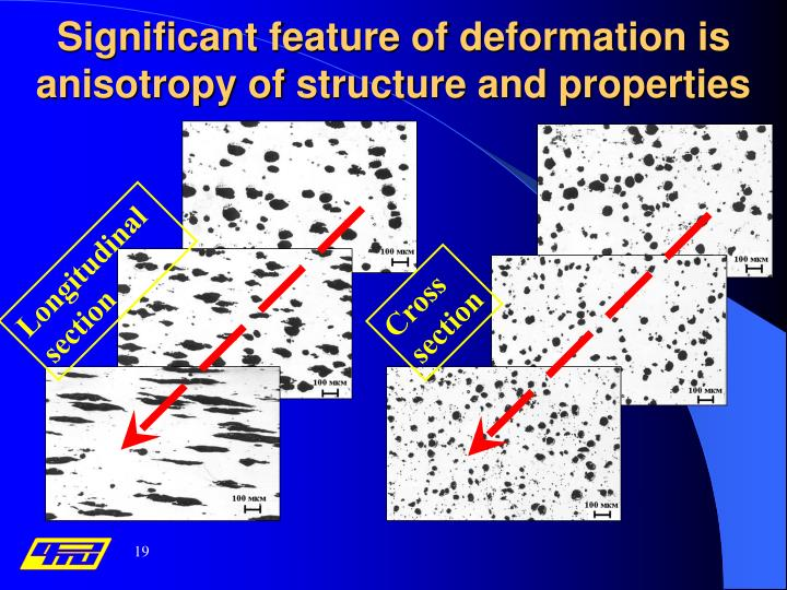 Significant feature of deformation is