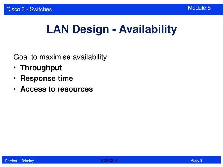 Goal to maximise availability