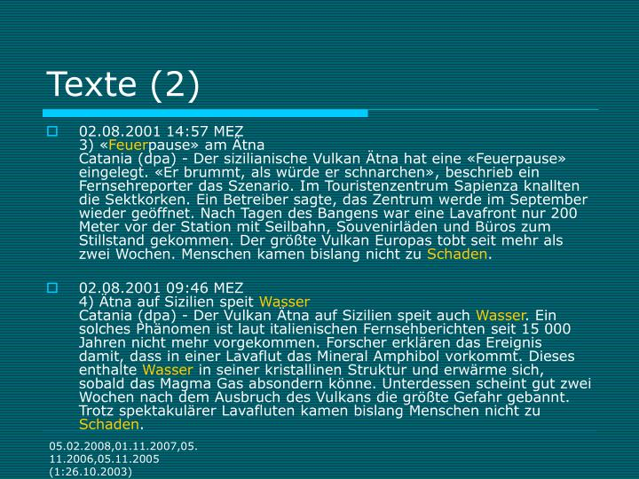 Texte (2)
