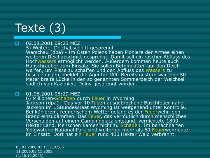 Texte (3)