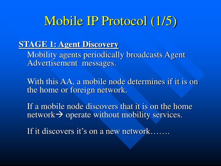 Mobile IP Protocol (1/5)