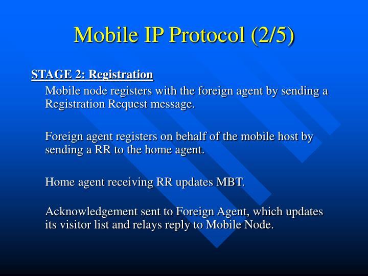 Mobile IP Protocol (2/5)