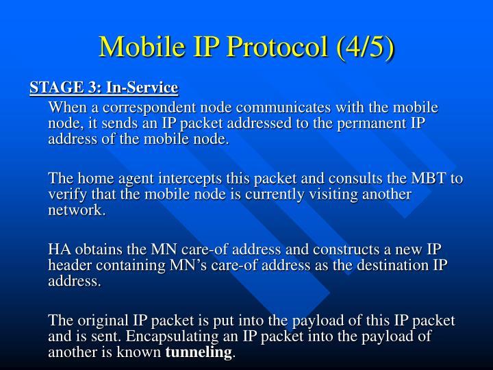 Mobile IP Protocol (4/5)