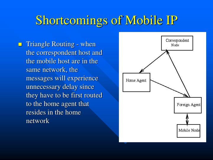 Shortcomings of Mobile IP