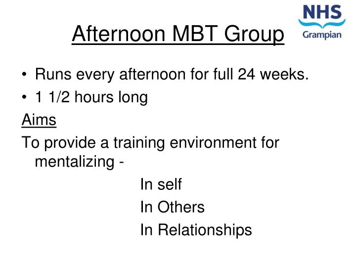 Afternoon MBT Group