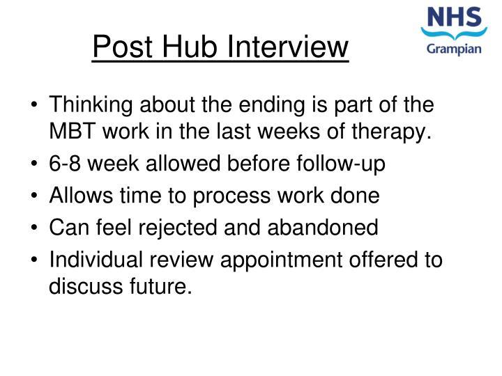 Post Hub Interview