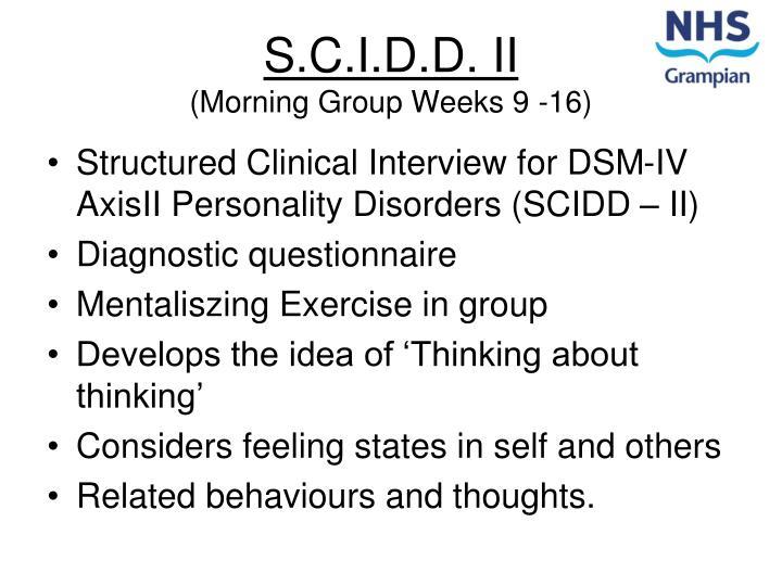 S.C.I.D.D. II